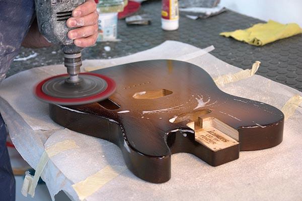 Pintando y montando un kit de telecaster guitarrista - Lijas para taladro ...