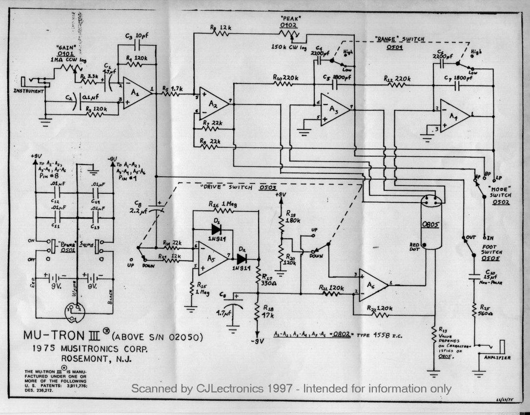 Mu Tron Iii Battery Splitter Using Ltc1044 Circuito